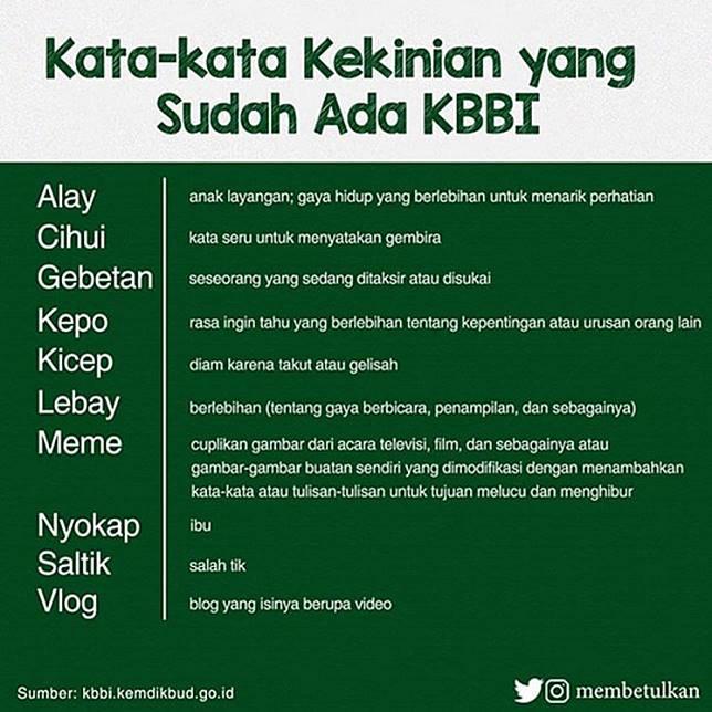 Kata Alay, Kepo, dan Jomlo Kini Resmi Terdaftar di Kamus Besar Bahasa Indonesia   Nihao Indonesia